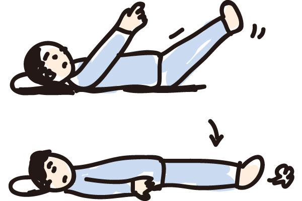 緊張した状態から頭を解放するために、緊張→脱力を繰り返す